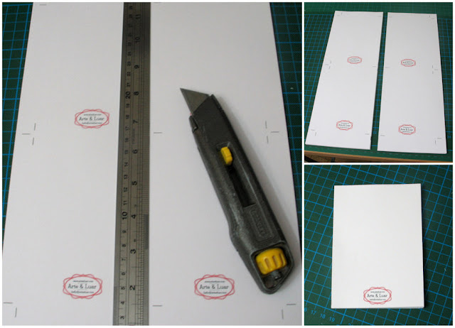 trimming the pages for your handmade notepad - tutorial