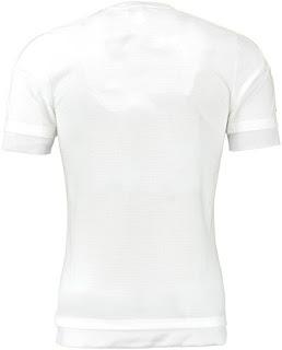 enkosa sport toko online baju bola terpercaya lokasi di jakarta Detail bagian belakang Jersey terbaru Real Madrid home Official musim 2015/2016