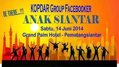 Kopdar Group Facebooker Anak Siantar Akan diadakan di Siantar