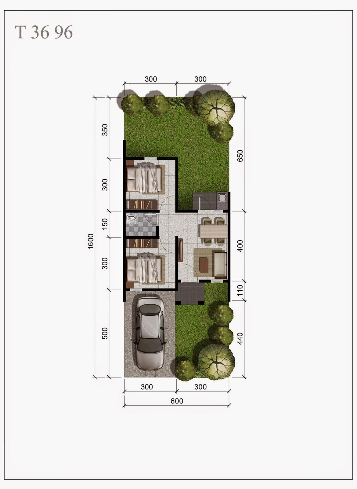 Citra Indah - Denah Rumah Bukit Cattleya