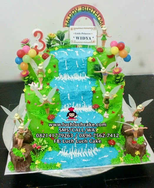 Tinkerbell Buttercream Birthday Tart Daerah Surabaya - Sidoarjo