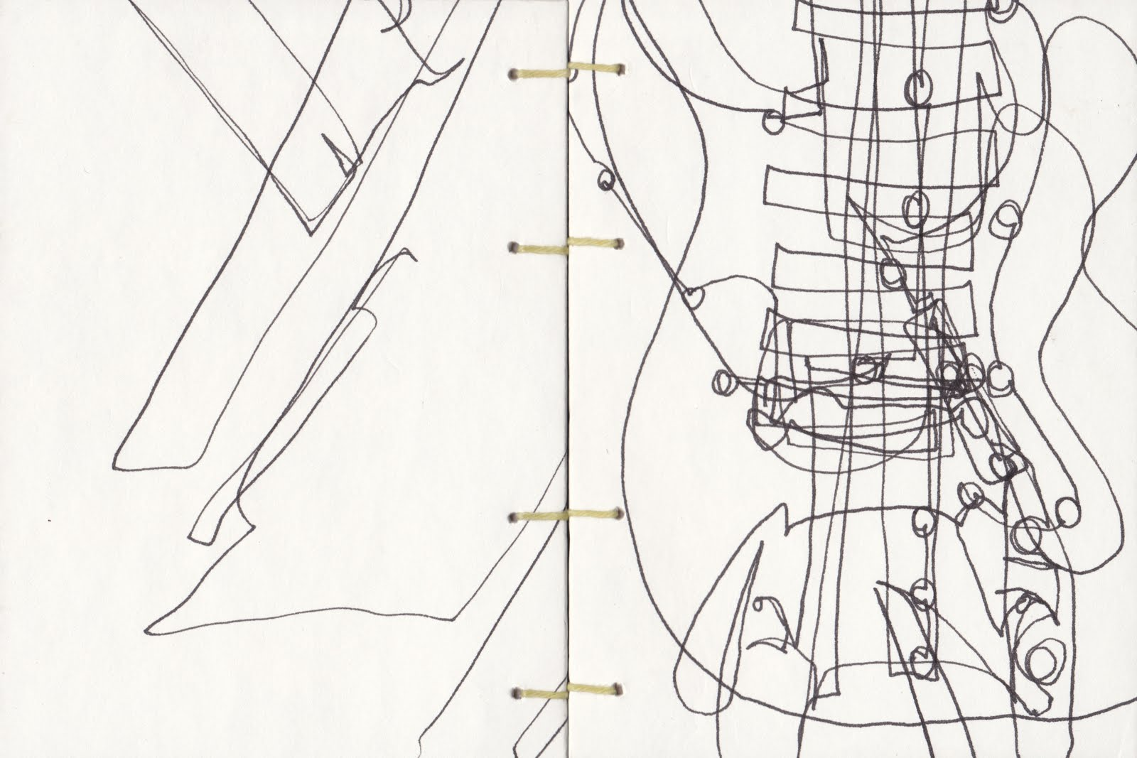 Contour Line Drawing Guitar : Art is try may