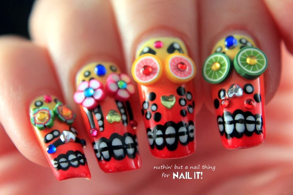 Nuthin but a nail thing nail it magazine mexican sugar skull and that is it mexican sugar skulls done if you do give these a try i would love to see your creations on my facebook page prinsesfo Gallery