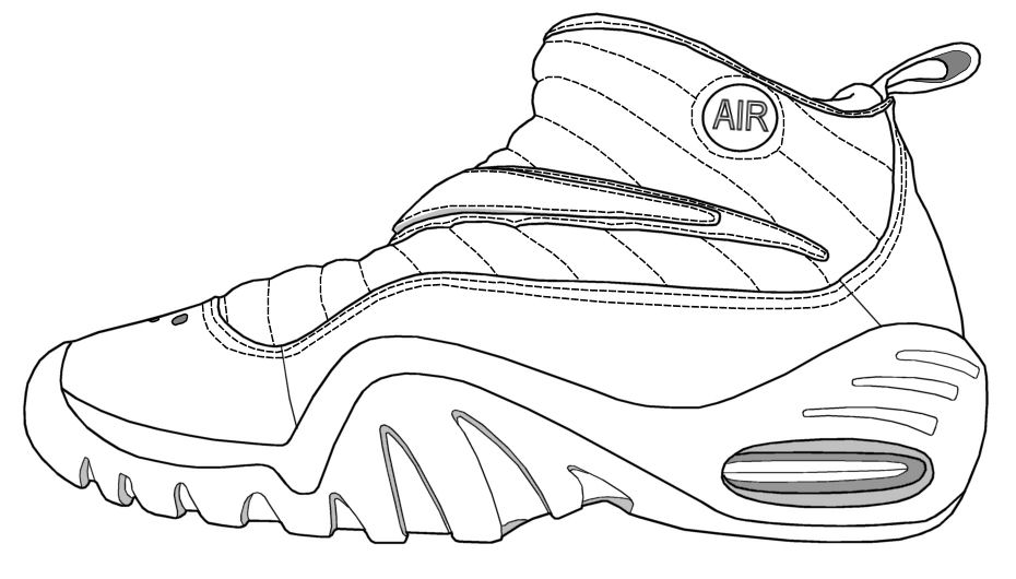 lebron shoe drawing - Lebron James Shoes Coloring Pages