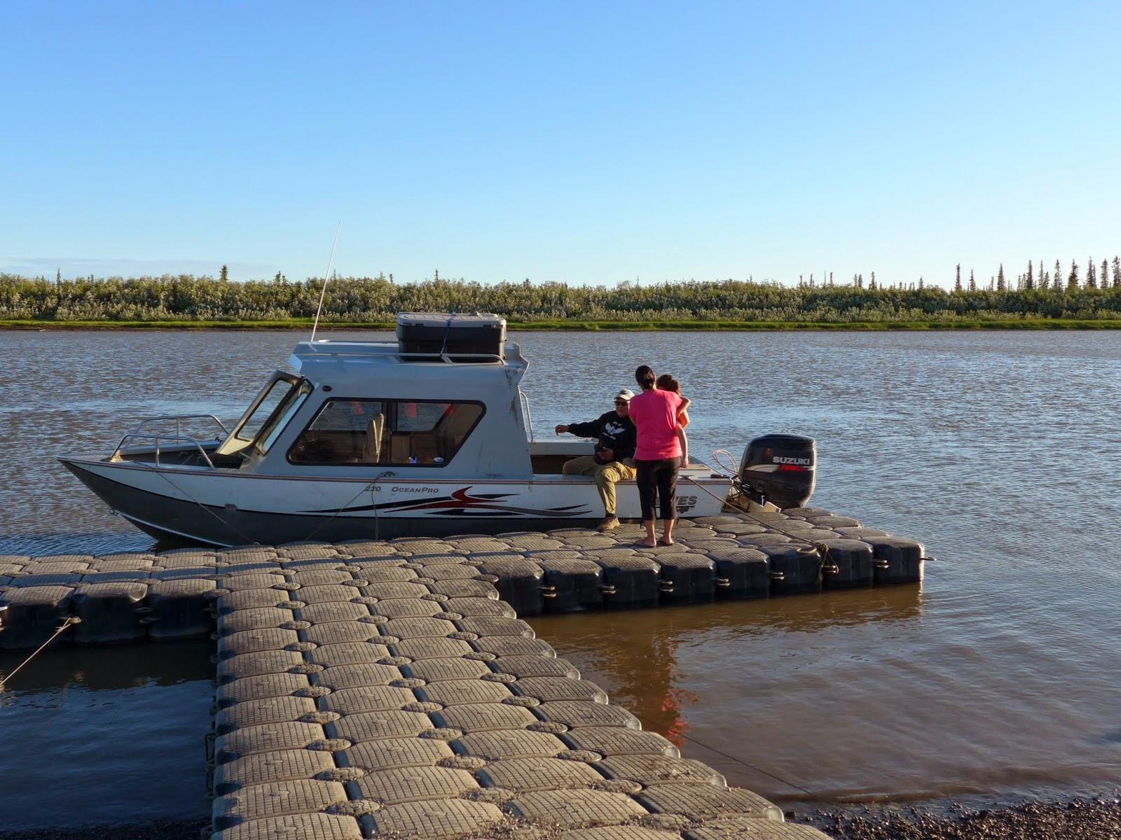 Boat docked.