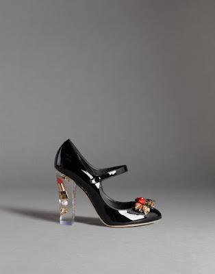 black patent mary jane block plexiglas heel with makeup design