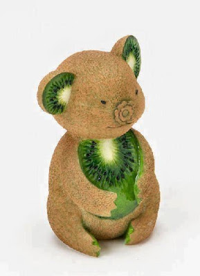 Kiwi Teddy Bear Art
