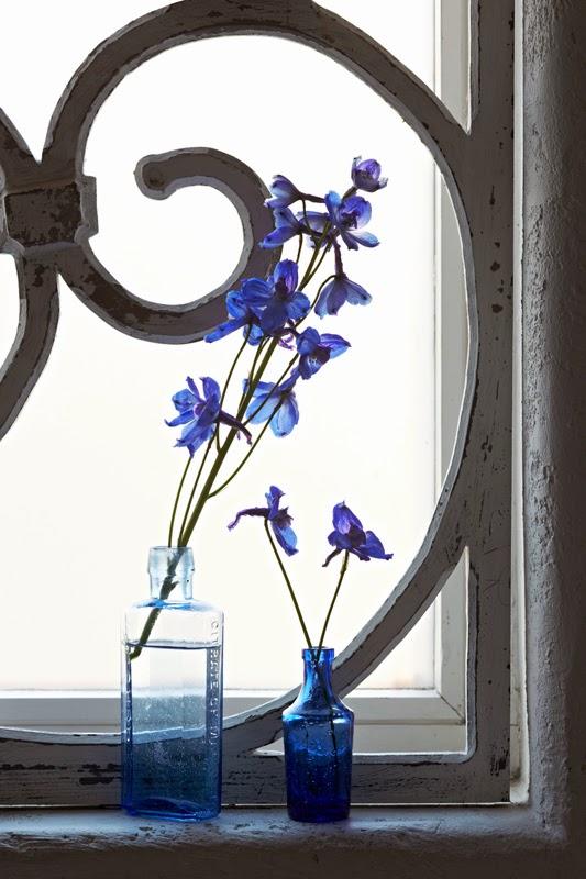 Ventana casa azul