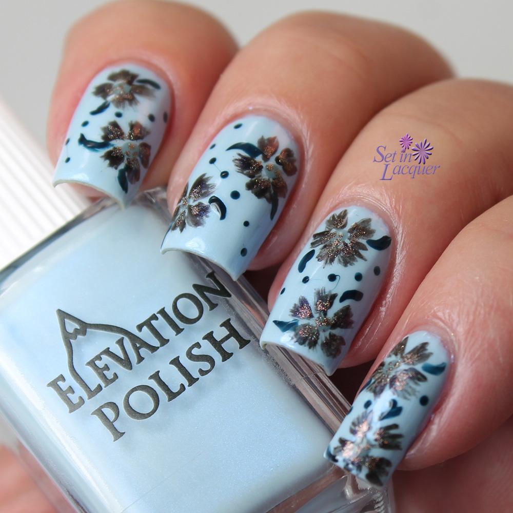Elevation Polish Floral Nail Art