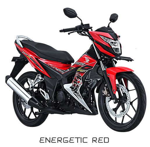 gambar New Sonic 150cc warna Energetic Red