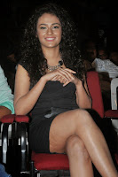 Seerath Kapoor in Spicy Black Short Gown at her movie audio release function