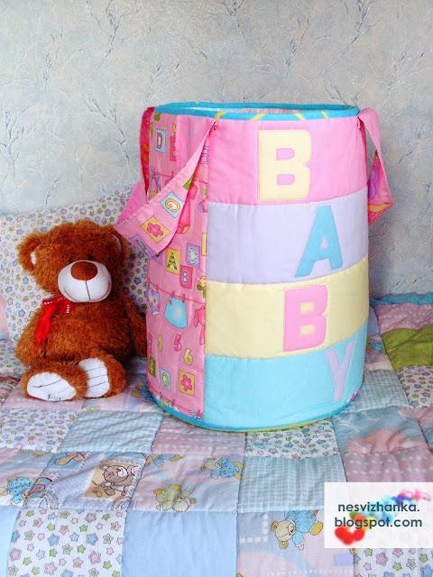 Ящик для игрушек из ткани своими руками
