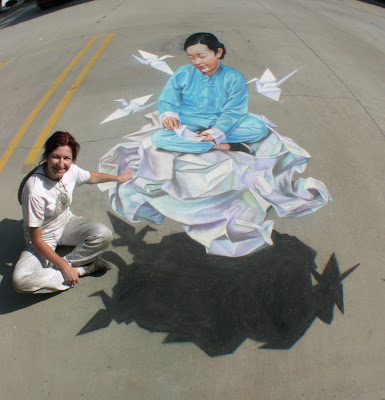 tracy lee stum street painting - sidewalk chalk artist