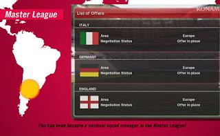 Esse Modo se Refere a Liga Master. A grande Novidade é que você poderá trocar de clube e ser técnico de uma Seleção.
