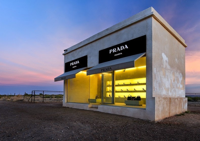 Prada Marfa, Texas, Art project by Michael Elmgreen and Ingar Dragset
