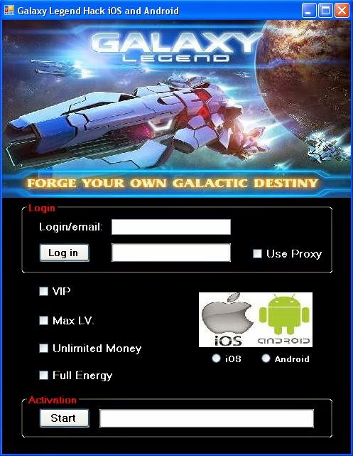 Galaxy legend screenshots