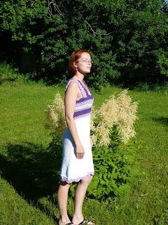 Kootud kleit heegeldatud passeosaga DROPS 101-27 P1080400