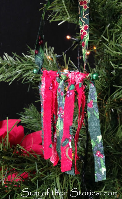 Mini fabric wall hanging Christmas Tree Ornaments