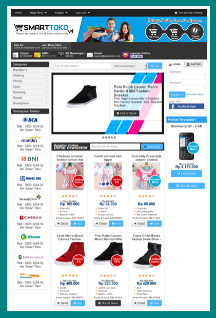 Download tema toko online