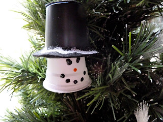K-Cup Snowman Christmas Tree Ornament