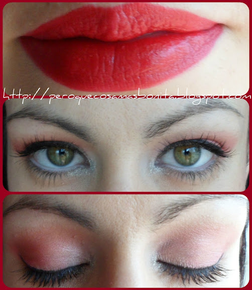 Maquillaje rojo Shocking Pink