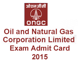ONGC Assam Junior Assistant Technician Admit Card 2015, ONGC Assam Assistant Rigman Exam Admit Card 2015, Oil and Natural Gas Corporation Ltd (ONGC) will be conducted the examination on 20/09/2015. ONGC Assam Assistant Rigman / Technician Admit Card 2015