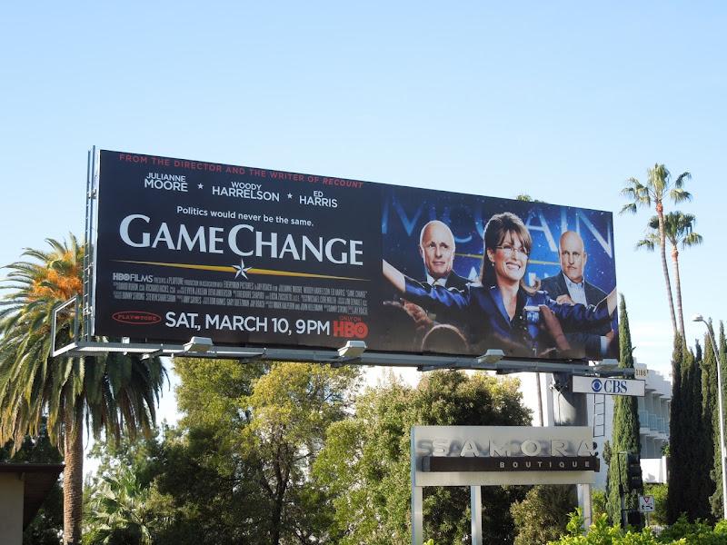 Game Change movie billboard