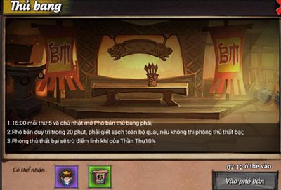 Hướng dẫn tham gia hoạt động Thủ Bang trong game Lãng Khách