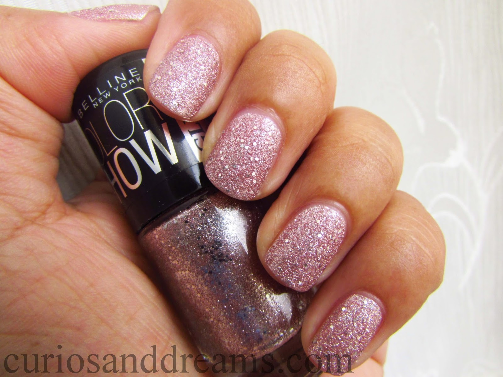 Maybelline Color Show Glitter Mania Pink Champagne review, Maybelline Glitter Mania Pink Champagne review, Maybelline Glitter Mania Pink Champagne swatch