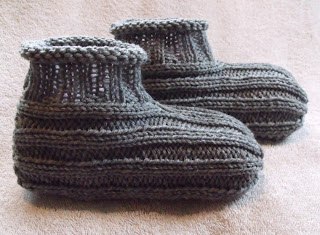 knittted slippers free pattern