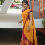 Bhavya New Telugu Actress Looking Cute in Half Saree Stills