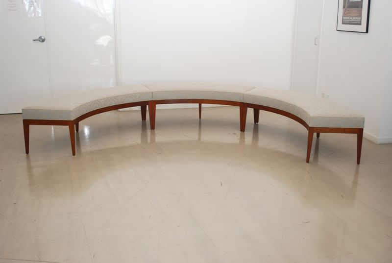 Classic design custom curved window seat bench Curved bench seating