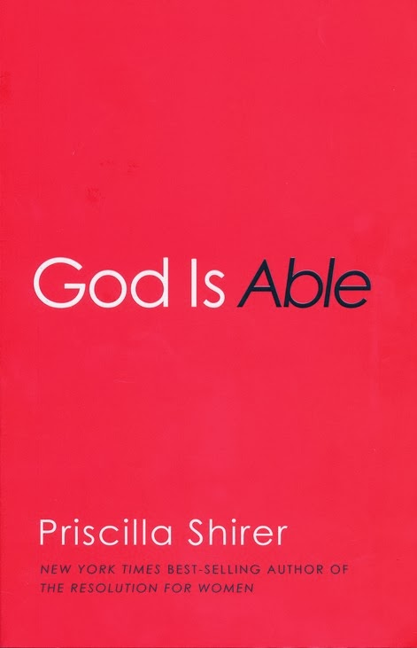More of him giveaway quot god is able quot by priscilla shirer