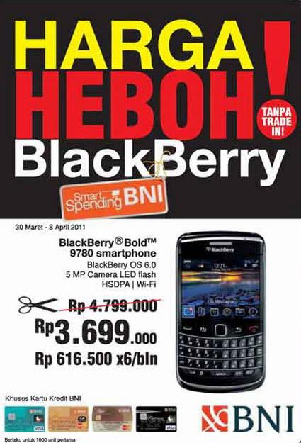 Harga khusus BlackBerry di Telesindo Shop dengan kartu kredit BNI. Amalat dan nomor telepon lengkap kantor cabang Telesindo Shop. Special promotion for BlackBerry and Android from Telesindo Shop.