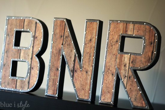 Industrial Letters Wall Hanging Diy With Style Restoration Hardware Inspired Vintage Industrial