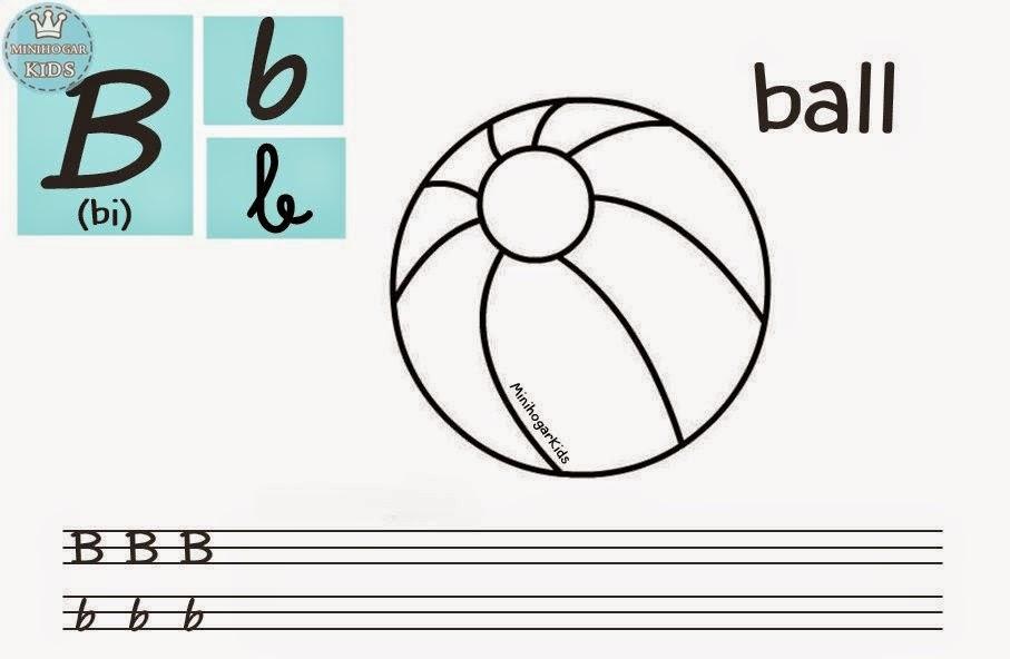 Único Alfabeto Para Colorear Páginas B Ilustración - Ideas Para ...
