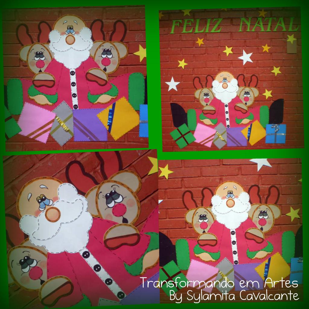 Transformando em artes painel de natal for Mural de natal 4 ano