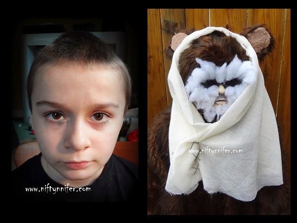 Halloween Costume Idea ~Homemade Ewok http://www.niftynnifer.com/2014/10/halloween-costume-idea-homemade-ewok.html #Halloween #Ewok #Costume