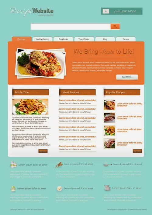 Recipe Template in Photoshop