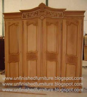 klasik furniture almari pakaian klasik ukir jepara almari klasik mahoni ukir jepara supplier almari pakaian klasik 4 pintu mentah unfinished mahoni