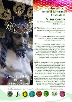 PROGRAMA DE LAS FIESTAS DEL SANTÍSIMO CRISTO DE LA MISERICORDIA 2015