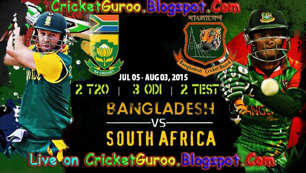 South Africa Tour of Bangladesh 2015 Schedule