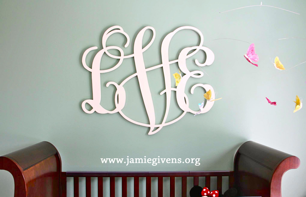 large custom wooden monogram