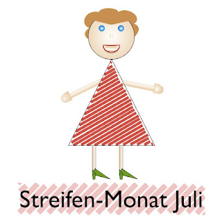 Streifen-Monat-Juli