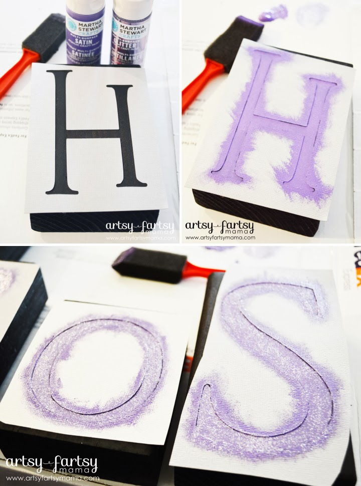 Easy Stencil Tutorial at artsyfartsymama.com #stencil #tutorial