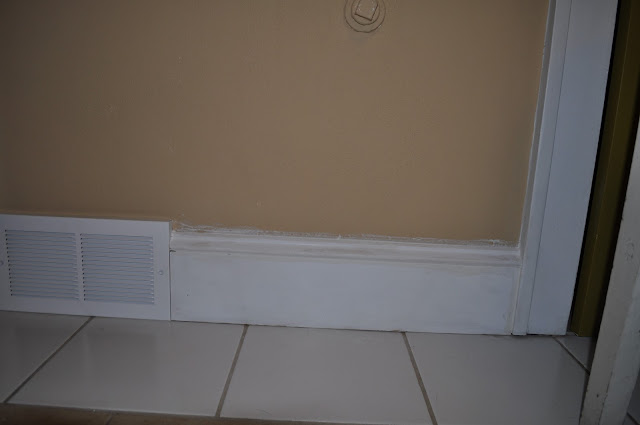 painting, trim, baseboards, caulk