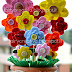 Vaso di fiori in feltro - felt flowers vase