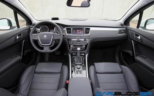 Novo Peugeot 508 2013 por dentro