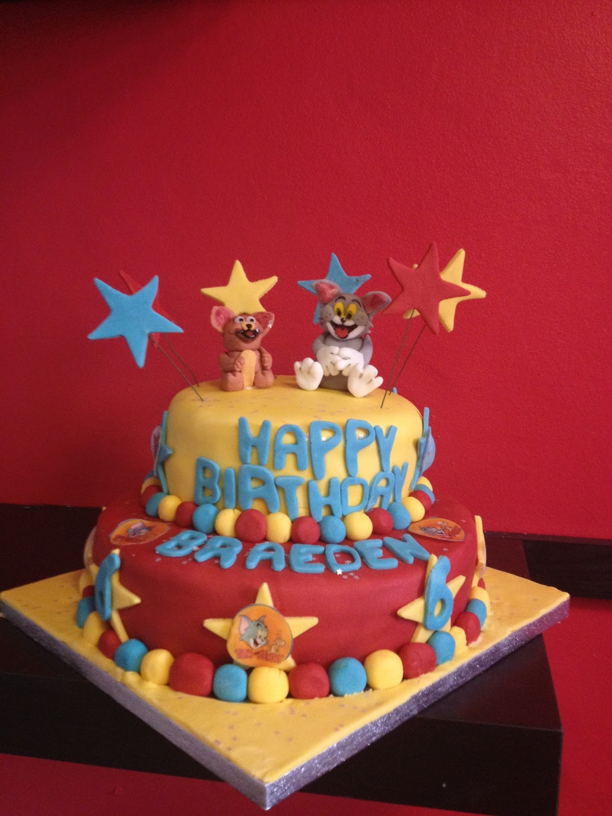 Charlies Cakes Tom And Jerry Birthday Cake
