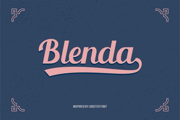 Download Blenda Script Free Font